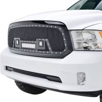 Paramount Automotive - Black Evolution Stainless Steel Wire Mesh Packaged Grille w/ LED #48-0847 - Image 4