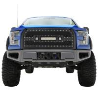 Paramount Automotive - Black Evolution Stainless Steel Wire Mesh Packaged Grille w/ LED #48-0850 - Image 3