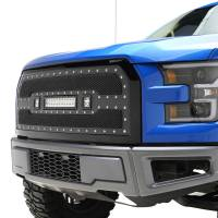 Paramount Automotive - Black Evolution Stainless Steel Wire Mesh Packaged Grille w/ LED #48-0850 - Image 4