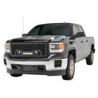 Paramount Automotive - Black Evolution Stainless Steel Wire Mesh Packaged Grille w/ LED #48-0851 - Image 1