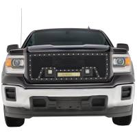 Paramount Automotive - Black Evolution Stainless Steel Wire Mesh Packaged Grille w/ LED #48-0851 - Image 3