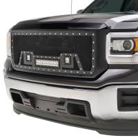 Paramount Automotive - Black Evolution Stainless Steel Wire Mesh Packaged Grille w/ LED #48-0851 - Image 4