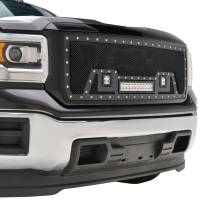 Paramount Automotive - Black Evolution Stainless Steel Wire Mesh Packaged Grille w/ LED #48-0851 - Image 5