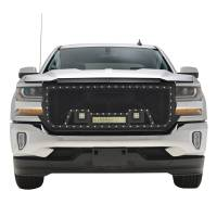 Paramount Automotive - Black Evolution Stainless Steel Wire Mesh Packaged Grille w/ LED #48-0854 - Image 3