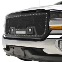 Paramount Automotive - Black Evolution Stainless Steel Wire Mesh Packaged Grille w/ LED #48-0854 - Image 4