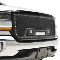 Paramount Automotive - Black Evolution Stainless Steel Wire Mesh Packaged Grille w/ LED #48-0854 - Image 5
