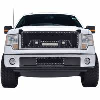 Paramount Automotive - Black Evolution Stainless Steel Wire Mesh Cutout Grille w/ LED #48-0902 - Image 2