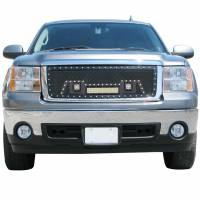 Paramount - Black Evolution Stainless Steel Wire Mesh Cutout Grille w/ LED #48-0912 - Image 2