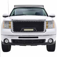 Paramount Automotive - Black Evolution Stainless Steel Wire Mesh Cutout Grille w/ LED #48-0913 - Image 2