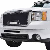 Paramount Automotive - Black Evolution Stainless Steel Wire Mesh Cutout Grille w/ LED #48-0913 - Image 3