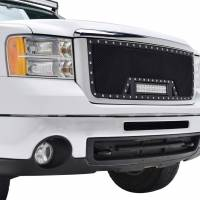 Paramount Automotive - Black Evolution Stainless Steel Wire Mesh Cutout Grille w/ LED #48-0913 - Image 4