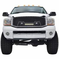 Paramount Automotive - Black Evolution Stainless Steel Wire Mesh Cutout Grille w/ LED #48-0918 - Image 3