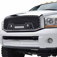Paramount Automotive - Black Evolution Stainless Steel Wire Mesh Cutout Grille w/ LED #48-0918 - Image 4