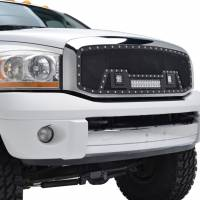 Paramount Automotive - Black Evolution Stainless Steel Wire Mesh Cutout Grille w/ LED #48-0918 - Image 5