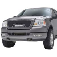 Paramount Automotive - Black Evolution Stainless Steel Wire Mesh Cutout Grille w/ LED #48-0924 - Image 1