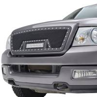 Paramount Automotive - Black Evolution Stainless Steel Wire Mesh Cutout Grille w/ LED #48-0924 - Image 4