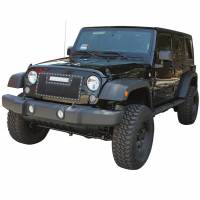 Paramount Automotive - Black Evolution Stainless Steel Wire Mesh Cutout Grille w/ LED #48-0931 - Image 1