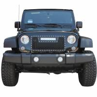 Paramount Automotive - Black Evolution Stainless Steel Wire Mesh Cutout Grille w/ LED #48-0931 - Image 3