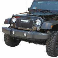 Paramount Automotive - Black Evolution Stainless Steel Wire Mesh Cutout Grille w/ LED #48-0931 - Image 4