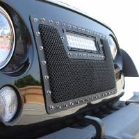 Paramount Automotive - Black Evolution Stainless Steel Wire Mesh Cutout Grille w/ LED #48-0931 - Image 5