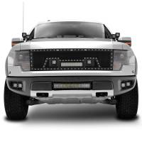 Paramount Automotive - Black Evolution Stainless Steel Wire Mesh Cutout Grille w/ LED #48-0967 - Image 3