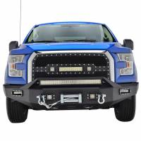 Paramount Automotive - 1PC Cutout Evolution Black Stainless Steel Wire Mesh Packaged Grille With Three LED lights #48-0971 - Image 3