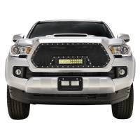 Paramount Automotive - Black Evolution Stainless Steel Wire Mesh Cutout Grille w/ LED #48-0977 - Image 3