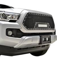 Paramount Automotive - Black Evolution Stainless Steel Wire Mesh Cutout Grille w/ LED #48-0977 - Image 5