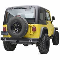 """Paramount Automotive - Classic Rear Bumper w/ D-Rings & 2"""" Inch Receiver Black #51-0008 - Image 1"""