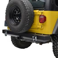 """Paramount Automotive - Classic Rear Bumper w/ D-Rings & 2"""" Inch Receiver Black #51-0008 - Image 4"""
