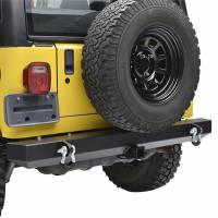 """Paramount Automotive - Classic Rear Bumper w/ D-Rings & 2"""" Inch Receiver Black #51-0008 - Image 5"""