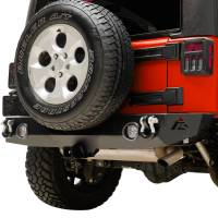 Paramount Automotive - Heavy Duty Rock Crawler Rear Bumper w/ LED #51-0310L - Image 4