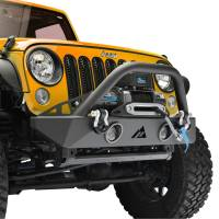 Paramount - R-5 Canyon Stubby Front Bumper with LED Lights and Light Frames #51-0743 - Image 4