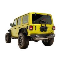 Paramount Automotive - 18-19 Jeep Wrangler JL Rock Crawler Rear Bumper + Two 12W LED Lights and Color Light Frames #51-8010L - Image 2
