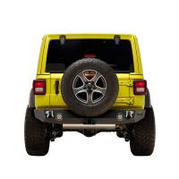 Paramount Automotive - 18-19 Jeep Wrangler JL Rock Crawler Rear Bumper + Two 12W LED Lights and Color Light Frames #51-8010L - Image 3