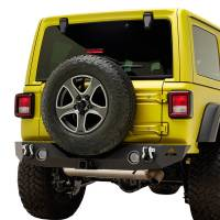 Paramount Automotive - 18-19 Jeep Wrangler JL Rock Crawler Rear Bumper + Two 12W LED Lights and Color Light Frames #51-8010L - Image 4
