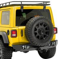 Paramount Automotive - 18-19 Jeep Wrangler JL Rock Crawler Rear Bumper + Two 12W LED Lights and Color Light Frames #51-8010L - Image 5