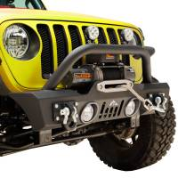 Paramount - Stubby Front Bumper with Color Light Frames for OE Fog Light #51-8014 - Image 5