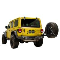 Paramount Automotive - X2 Full Width Rear Bumper SurGrip with Secure Lock Tire Carrier + Two12W LED Lights and Adaptor for OE back-up Camara #51-8022L - Image 2