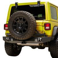 Paramount Automotive - X2 Full Width Rear Bumper SurGrip with Secure Lock Tire Carrier + Two12W LED Lights and Adaptor for OE back-up Camara #51-8022L - Image 4