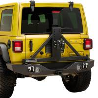 Paramount Automotive - X2 Full Width Rear Bumper SurGrip with Secure Lock Tire Carrier + Two12W LED Lights and Adaptor for OE back-up Camara #51-8022L - Image 5
