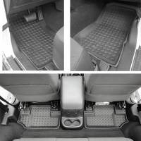 Paramount Automotive - 4PC 2 Door Front and Rear Floor Liners #59-1124