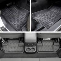 Paramount Automotive - 4PCS 2 Door Front and Rear Floor Liners (Black) #59-1126