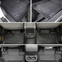 Paramount Automotive - 3PCS 4 Door Front and Rear Floor Liners (Black) #59-1127
