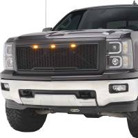 Paramount Automotive - ABS LED Matte Black Impulse Packaged Grille #41-0174MB