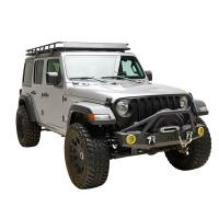 Paramount Automotive - 07-19 Jeep Wrangler JL/JK Offroad Front Bumper with Two 12W LED Lights and Color Light Frame #51-8008 - Image 3