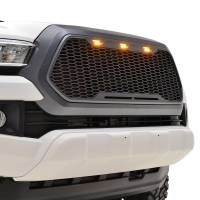 Paramount - ABS LED Metallic Charcoal Gray Impulse Mesh Packaged Grille #41-0171MCG - Image 2