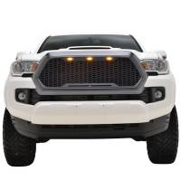 Paramount - ABS LED Metallic Charcoal Gray Impulse Mesh Packaged Grille #41-0171MCG - Image 3