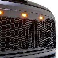 Paramount Automotive - ABS LED Metallic Charcoal Gray Impulse Mesh Packaged Grille #41-0175MCG - Image 3