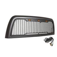 Paramount Automotive - ABS LED Metallic Charcoal Gray Impulse Mesh Packaged Grille #41-0175MCG - Image 4